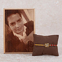 Personalized Plaque And Rakhi Combo: Send Rakhi With Photo Frames