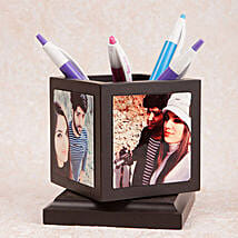 Personalized Rotating Pen Holder: Valentine Personalised Gifts for Him