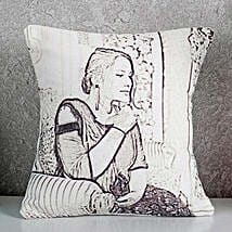 Personalized Sketch Cushion: Send Caricatures