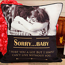 Personalized Sorry Cushion: Send Personalised Gifts to Sirsa