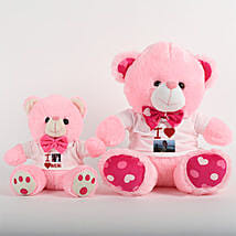 Personalized Teddy Bears Combo: Mothers Day Gifts to Ahmedabad