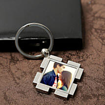Personalized Valentine Keyring: Cake Delivery in Chandel