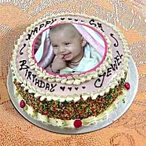Photo Cake Vanilla Sponge: Photo Cakes to Kolkata