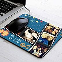 Picture Strip Personalized Mouse Pad: Womens Day Gifts for Daughter