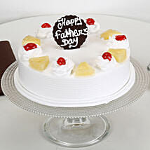 Pineapple Cream Cake For Dad: Eggless Cakes for Fathers Day
