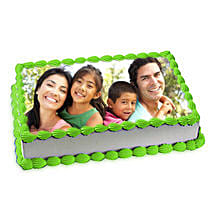 Pineapple Photo Cake: Send Photo Cakes to Faridabad