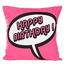 Pink Birthday Cushion: Birthday Cushions
