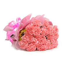 Pink Carnations Passion Bouquet: Valentines Day Flower Bouquets