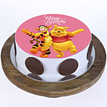 Pooh & Tigger Photo Cake: 1st Birthday Cakes