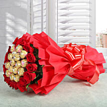 Premium Rocher Bouquet: Gifts to Udupi