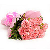 Pretty Pink Carnations Bouquet: Flowers to Jhotwara