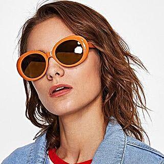 Prishie Rusty Orange Sunglasses For Female: Sunglasses