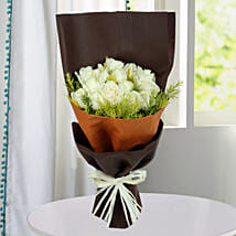 Pure White Roses Bunch: Flowers for Condolence
