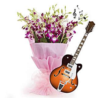 Purple Orchid Melodies: Teachers Day Flowers