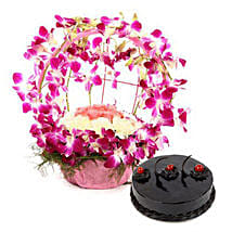 Purple Orchid n Cake Passion: Send Flowers & Cakes to Bhopal