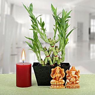 Pyramid Bamboo Diwali Hamper: PLANTS N LAXMI GANESH GIFTS