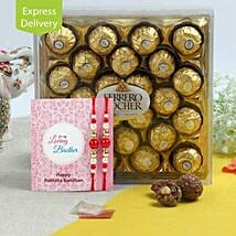 Rakhi Ferrero Rocher Hamper: Send Rakhi to Indore