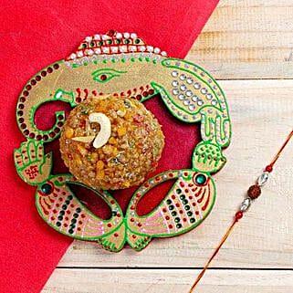 Rakhi Ganesha Surprise: Rakhi With Sweets Mohali