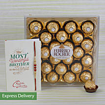 Rakhi Rocher Combo: Send Rakhi to Hooghly