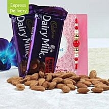 Rakhi Special Fruit N Nut Combo: Rakhi Gifts to Indore