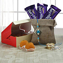 Rakhi Wishes With Choco: Send Rakhi With Sweets to Mohali