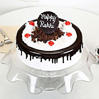 Rakhi with Blackforest Cake: Cakes to Imphal
