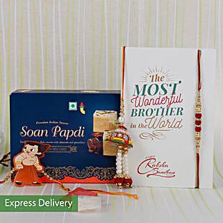Rakhi With Delicious Sweets: Rakhi With Sweets Rajkot