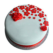 Red Roses Anniversary Fondant Cake: All Gifts