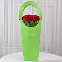 Red Roses in Green Sleeve Bag: Midnight Delivery Gifts