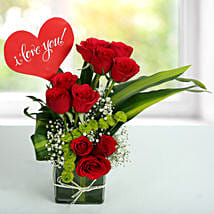 Red Roses Love Arrangement: Gifts for Anniversary