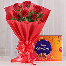 Red Sensation: Flowers & Chocolates Faridabad