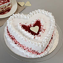 Red Velvet Cream Heart Cake: Romantic Heart Shaped Cakes