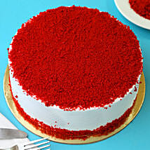Red Velvet Fresh Cream Cake: 1St Anniversary Cakes