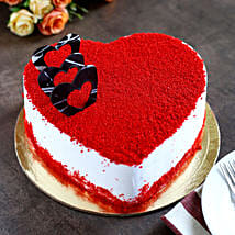 Red Velvet Heart Cake: Send Anniversary Cakes to Indore