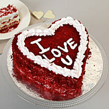 Red Velvet Love Cake: Send Heart Shaped Cakes to Thane