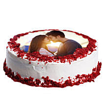 Red Velvet Photo Cake: Send Red Velvet Cakes to Noida