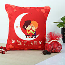 Red You And Me Cushion: Romantic Chocolates