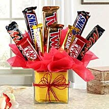 Relish Of Heavenly Treat: Anniversary Chocolate Bouquets