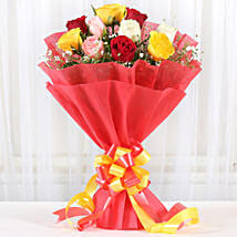Mixed Roses Romantic Bunch: Send Flowers for Husband