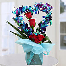 Romantic Heart Shape Arrangement: Orchids