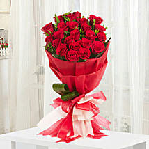 Romantic Red Roses Bouquet: Send Valentine Flowers to Chennai