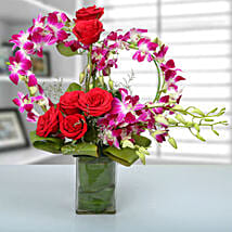 Rose and Orchid Arrangement: