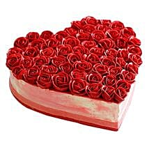 Rose Cake: Send Anniversary Cakes to Ghaziabad