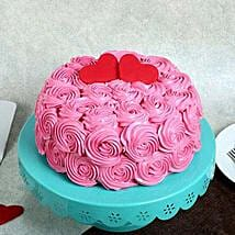 Rose Cream Valentine Cake: Cakes for Valentines Day