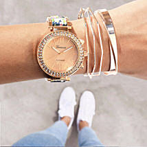 Rosegold Rush Blue Bracelet Stack: Buy Watches