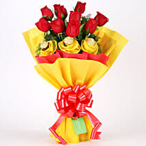 Roses N Chocolates Delight: Romantic Chocolate Bouquet