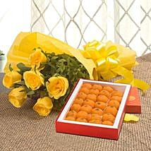 Roses N Ladoo: Flowers & Sweets for Birthday