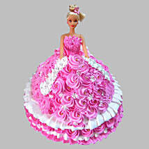Rosy Barbie Cake: Cartoon Cakes