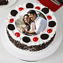 Round Black Forest Photo Cake: Photo Cakes to Mumbai