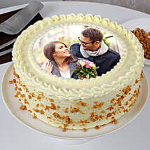 Round Butterscotch Photo Cake: Photo Cakes